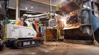 Video Demolition Robot RDC oven works