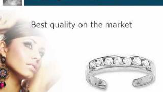 Toe Ring - 14kt White Gold and CZ Toe Ring