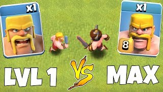 "TIER 1 TROOPS vs. MAX LVL TROOPS!! ""Clash Of Clans"" DEATH BATTLE!!"