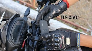 GPS Tracker for bike,  Gloves In 250/-RS, Cheap Action cam.
