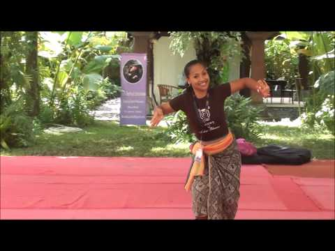 Putu Evie Explains An Excerpt Of Legong Condong At Bali Spirit Festival 2014, Day Three video