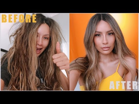HOW TO TAME FRIZZY HAIR (0 - 100) thumbnail