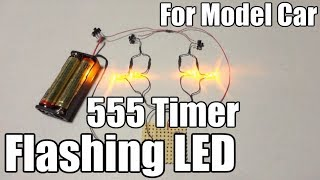 How to make flashing LEDs with 555 timer