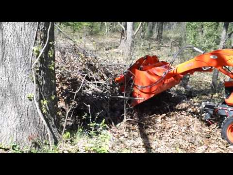 Homemade Brush Grapple on a sub-compact Kubota tractor