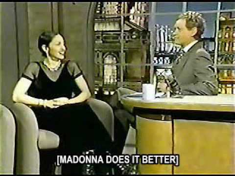Madonna on Letterman Show 1994 (part 1)