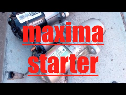DIY How to install replace the starter on a 2001 Nissan Maxima Infiniti I30