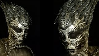 H. R. GIGER tribute makeup tutorial.