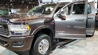 2019 RAM 3500 MEGACAB DUAL REAR WHEEL ALL NEW RAM HEAVY DUTY CUMMINS 2019 CHICAGO AUTO SHOW