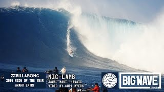 Nic Lamb at Jaws  - 2016 Billabong Ride of the Year Entry - WSL Big Wave Awards