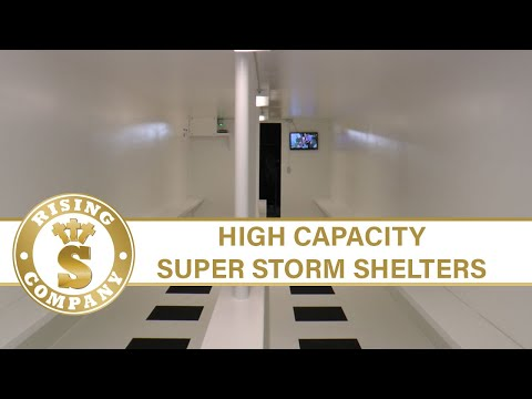 Underground Storm Shelter - HIGH CAPACITY  SUPER SHELTER - Made by Rising S