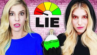 REBECCA ZAMOLO takes LIE DETECTOR TEST from RZ Twin to find GAME MASTER! (Truth Revealed)