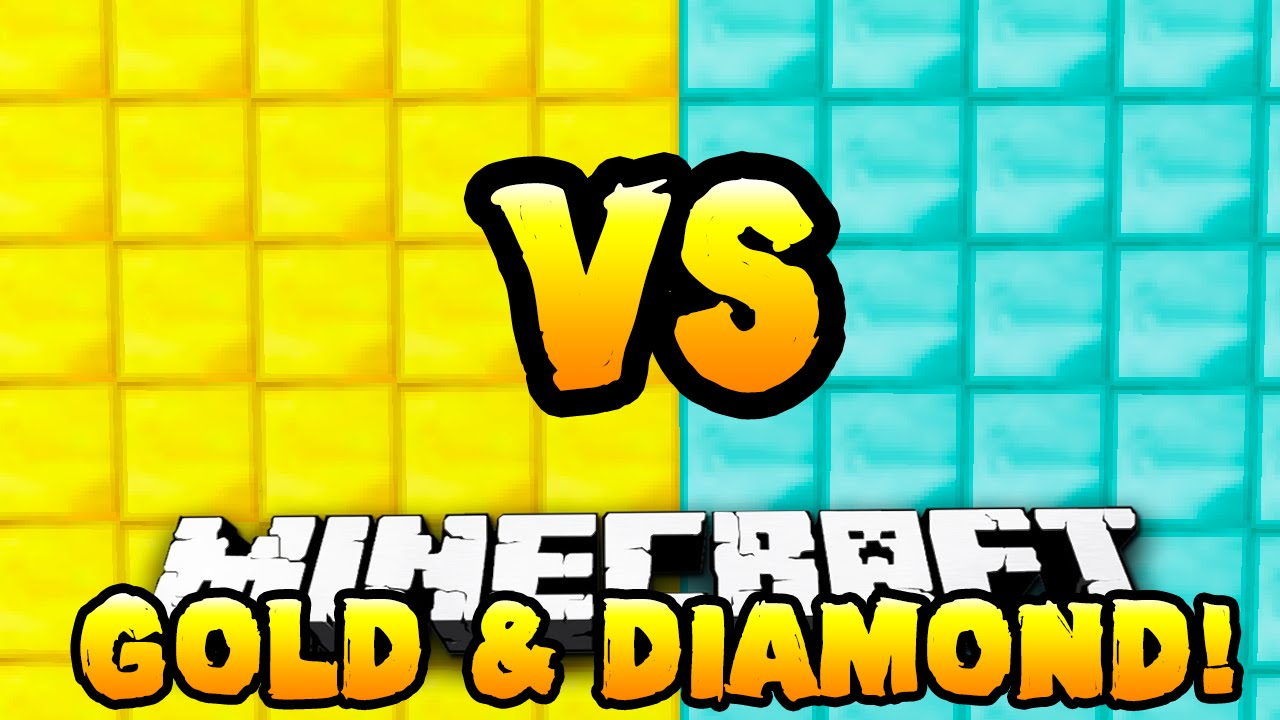 Minecraft Gold vs Diamond