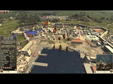 Total War Rome 2 #48 2vs2 Port Assault Bactria