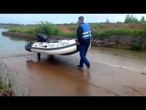 спуск лодки пвх на воду