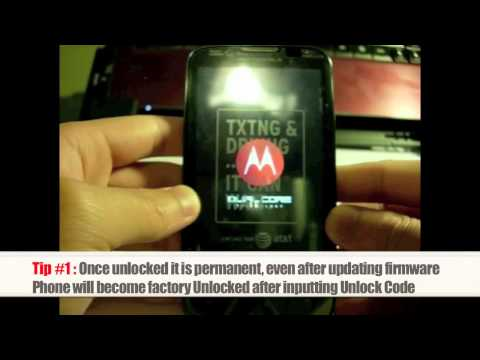 Unlock Motorola   How to Unlock any Motorola Phone by Subsidy Unlock Code Instructions + Tutorial