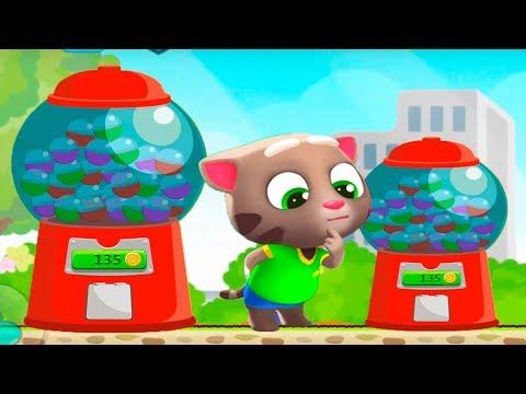 ГОВОРЯЩИЙ ТОМ минимульты ВКУСНАЯ БАШНЯ Тома #8 ДРУЗЬЯ! Игровой мультик   Talking Tom Cake Jump