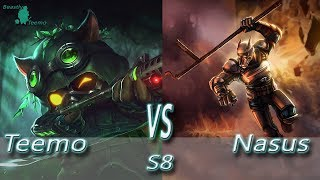 League of Legends - Omega Teemo vs Nasus - S8 Ranked Gameplay (Season 8)