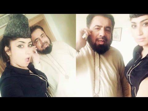 Qandeel Baloch Leaked Video With Mufti Abdul Qawi -قندیل کا وار، مفتی بںآ شکار