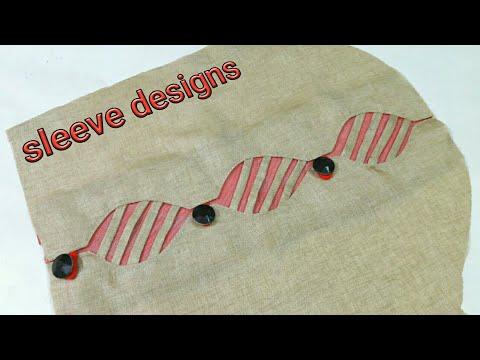 Latest Beautiful unique  sleeves designs 2018/baju designs / hand designs /suit