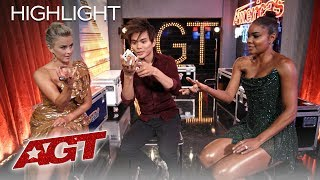 Shin Lim SHOCKS Julianne Hough And Gabrielle Union With Impressive Magic - America's Got Talent 2019