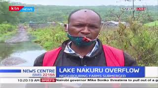 Lake Nakuru overflows due to the heavy rains experienced in the region