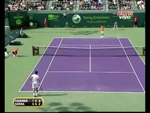 MS 1000 Miami: Roger Federer vs Florent Serra.. Tie Break.. 2º Set Video