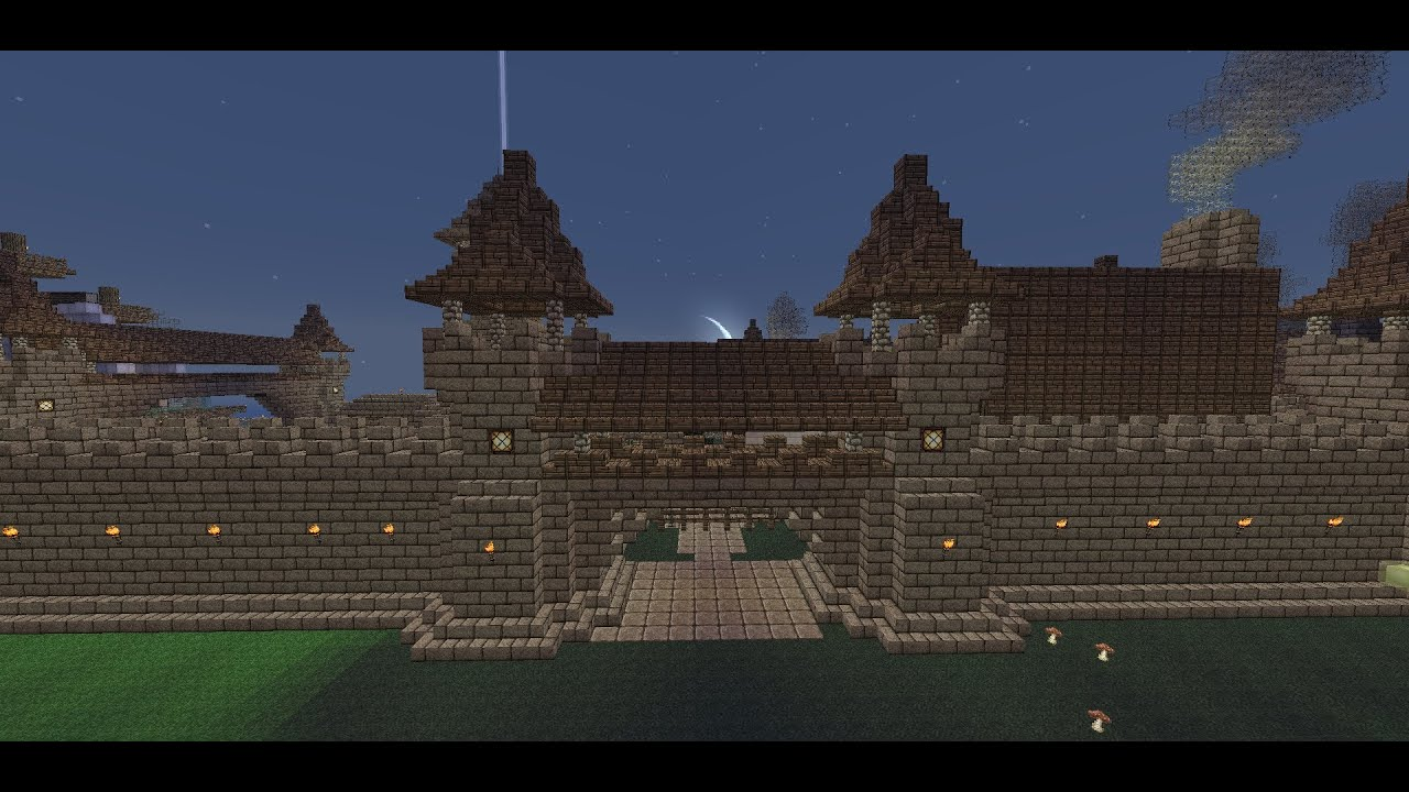 how to make a stone gate in minecraft