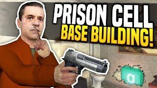PRISON CELL BASE BUILDING - Gmod PrisonRP | Fake Wall Money Printing!