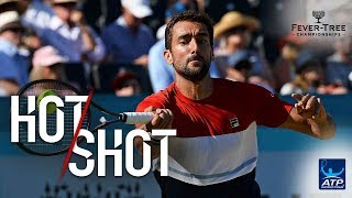 Hot Shot: Cilic Crushes Crucial Forehand Pass Past Djokovic In Queen's Club 2018 Final