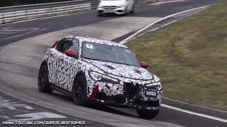 2018 Alfa Romeo Stelvio  QV Spied Testing on the Nurburgring, Nordschleife!