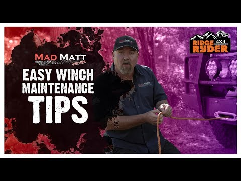 Maintenance Tips for your 4x4 Winch