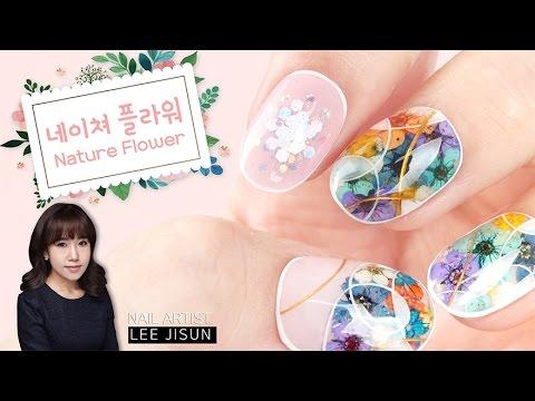 (ENG CC)봄기운~ 네이쳐 플라워 네일아트 /Nature Flowers Nail Art | POLARIS