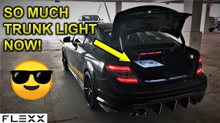 ULTRA BRIGHT MERCEDES TRUNK LIGHT BAR WITH COLOR CHANGING LOGO