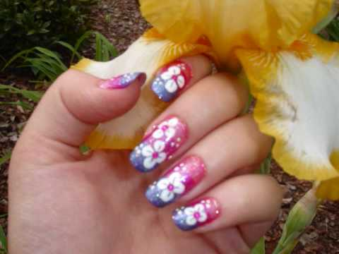 Hawaiian Sunset Manicure (inspired by LOVE4NAILS)