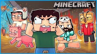 The server was lagging so we just pissed off Nogla the whole time... Minecraft ep 4