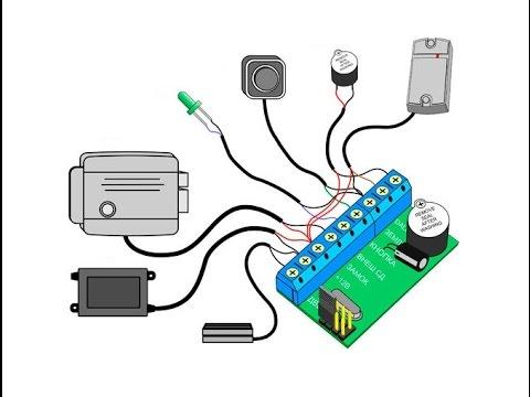 Подключение Z-5R. Подключение контроллера Z-5R к считывателю Matrix II.