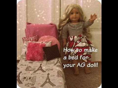 How to make 4 different beds for your AG Doll {EASY}