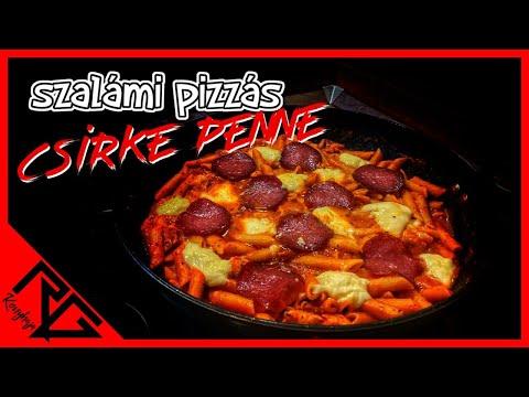 Szalámi pizzás csirke penne - Egytálétel - RG KONYHÁJA
