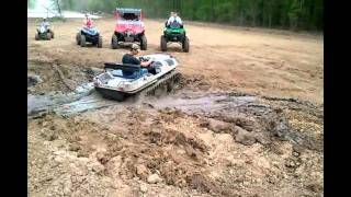 GUMBO MUD HOLE AND AMPHIBIOUS ADAIR ARGO 650 HD WITH TRACKS.avi