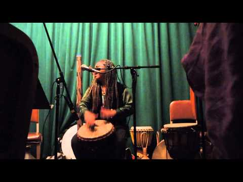 Ubaka Hill Drumming at Rosendale Cafe 11/18/13