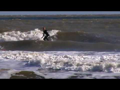 Surfing at Lowestoft 17/10/09