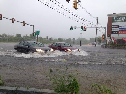 Hurricane Arthur - Flooding - New Bedford MA - 4th of July 2014