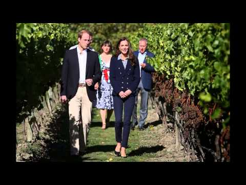 Prince William and Kate tastes Wine in New Zealand