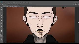 Tyler Joseph SpeedPaint - Neon Gravestones by Twenty One Pilots - Trench Inktober