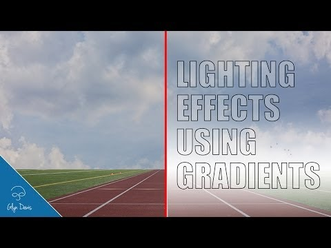 PHOTOSHOP TUTORIAL: Adding Lighting Effects using Gradients #41