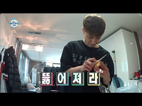 【TVPP】Gikwang(BEAST) - Making health drinks, 기광(비스트) - 건강 음료 만들기 @I Live Alone
