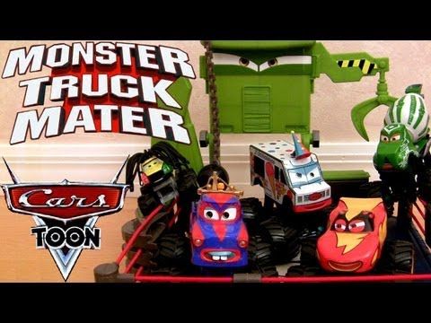 Cars Toon Monster Truck Mater Wrestling Ring Playset Disney Mater's Tall Tales Frankenwagon Monster