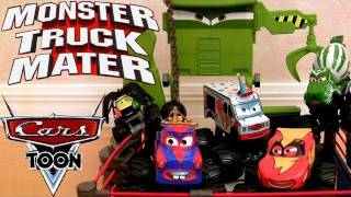 Cars Toon Monster Truck Mater Wrestling Ring Playset Disney Mater
