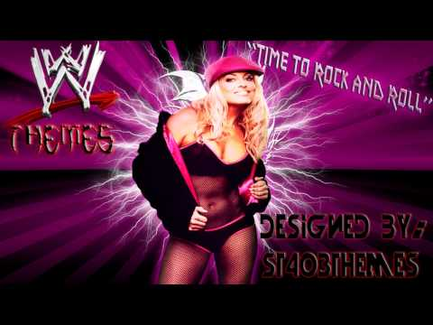 Trish Stratus 3rd WWE Theme Song Time to Rock and Roll