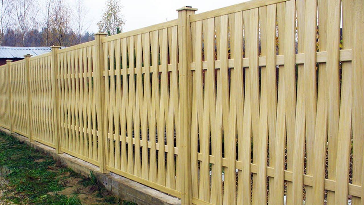 Как сделать забор на дачу своими руками